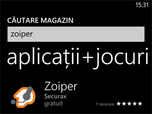 Zoiper Windows Phone - ClickPhone